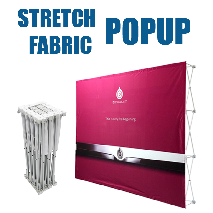 Stretch Fabric Pop Up Displays | BannerQ WholeSale Tradeshow