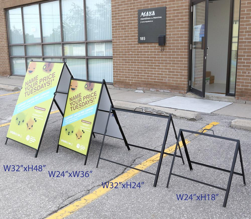 2 Side A Frame Steel Sign 24w X 36h Bannerq Wholesale